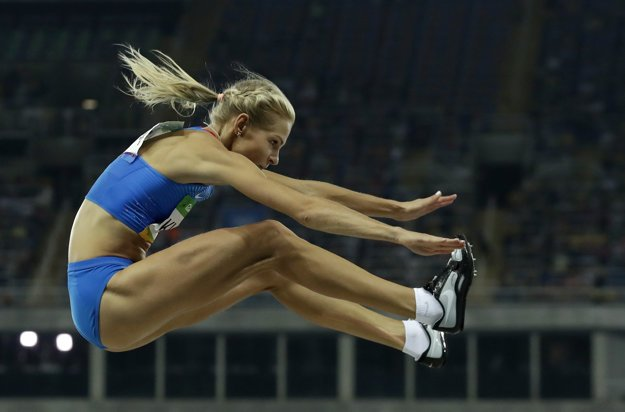 Daria Klišinová štartovala v Riu ako jediná ruská atlétka.