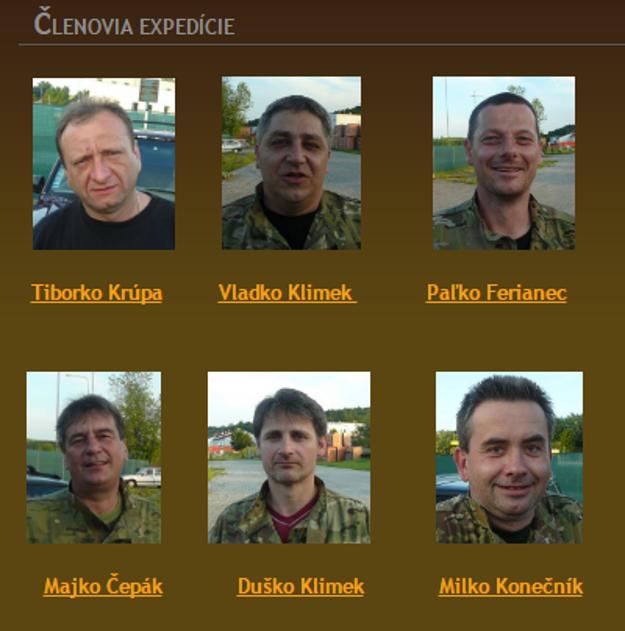 Členovia expedície.