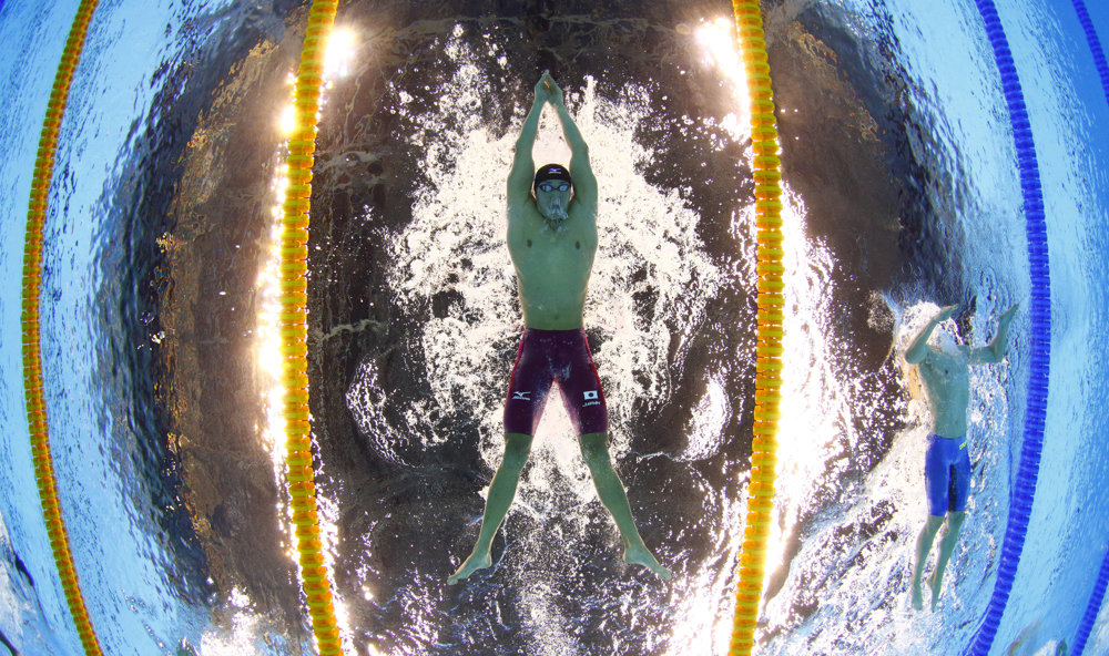 Plávanie, 200 metrov prsia, Japonec Jasuhiro Koseki.