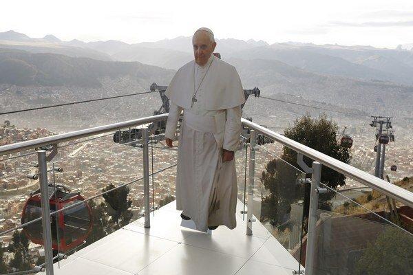 Pápež František na návšteve Južnej Ameriky.