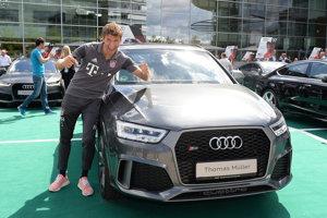 Futbalisti Bayernu dostali od Audi auto podľa vlastného výberu