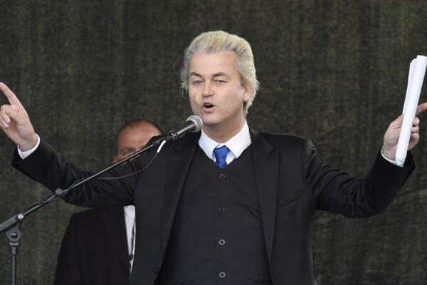 Líder holandskej pravicovej protiislamskej Strany Slobody Geert Wilders.