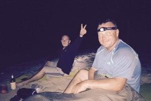Nocovanie pri brehu Baltiku.
