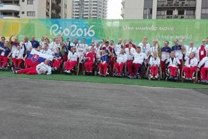 SlovenskĂ paralympionici v Riu.