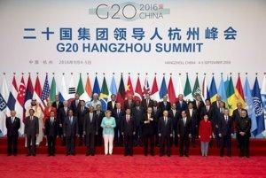 Lídri krajín na summite G20 v čínskom Chang-čou.