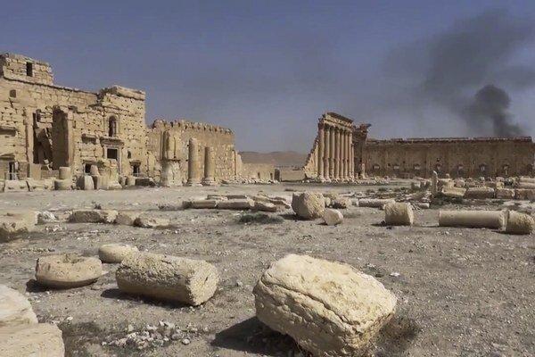 Ruiny v Palmýre.