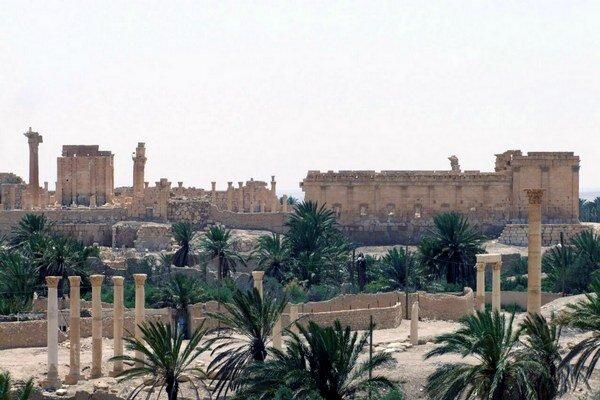 Starobylé mesto Palmýra.