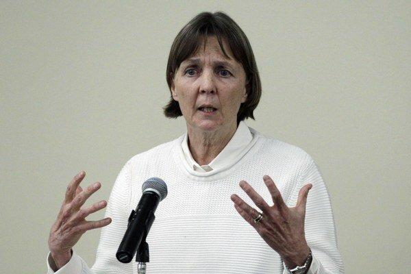 Na snímke z 26. apríla 2013 je prominentná advokátka  Judy Clarkeová.