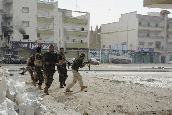Boje v Benghází.