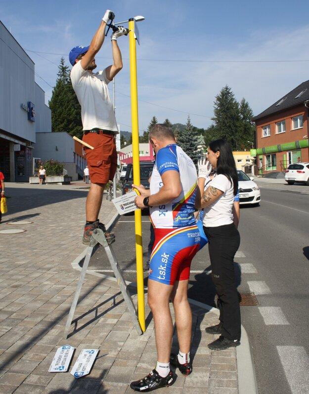 Nové značenie nájdu cykloturisti napríklad aj v Handlovej.