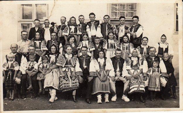 Teplanská svadba - Mária a Ondrej Švec-Koišéch (1934).