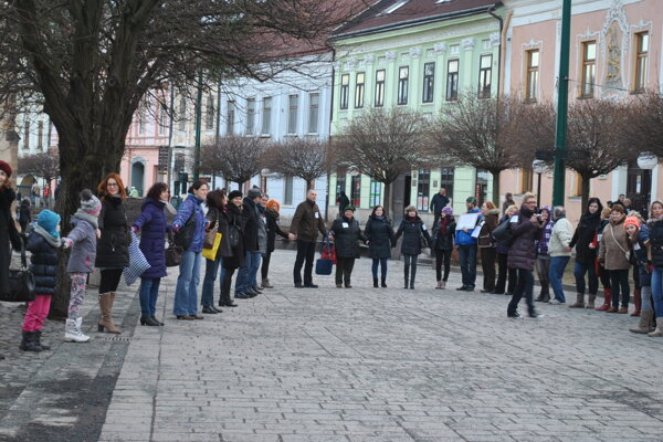 Takto sa štrajkovalo vjanuári. Pripojili sa vtedy desiatky učiteľov.