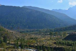 Pohľad do ústia Tichej doliny po dvanástich rokoch od ničivej víchrice.
