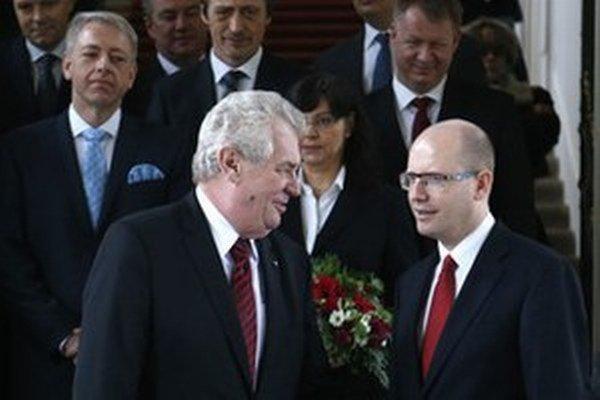 Miloš Zeman a Bohuslav Sobotka.