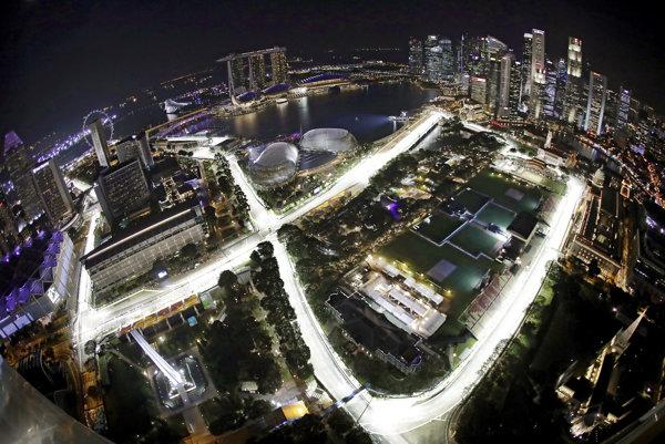 Trať Marina Bay v Singapure.