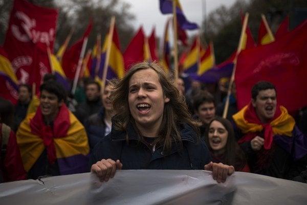 Demonštrácia v Madride.
