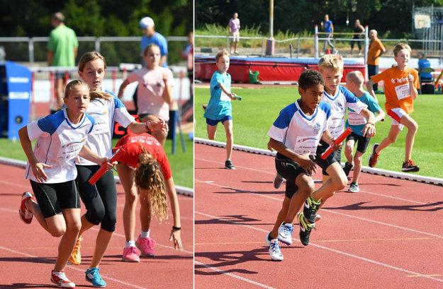 V detskej štafetovej lige súťažili najmladší žiaci (deti nar. po 1. 1. 2005).