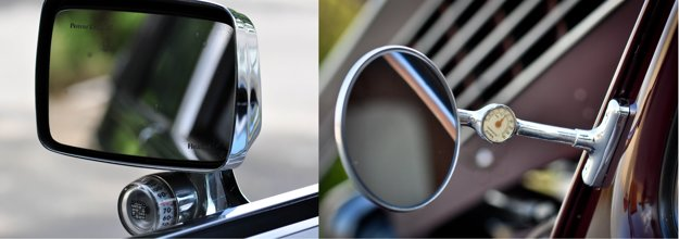 Vtipné riešenie pochádzajúce z 30-tych rokov, čidlo i teplomer sú v ľavom spätnom zrkadle (LaSalle bol podmodelom Cadillacu v 20-tych až 40-tych rokoch).