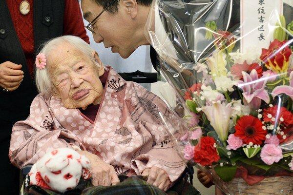 Misao Okawaová oslávi 5. marca 117 rokov.