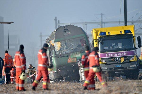 Vlaková nehoda vo Švajčiarsku.