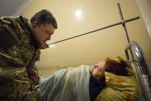 Ukrajinský prezident Petro Porošenko navštívil Kramatorsk.
