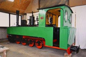 Vizualizácia lokomotívy v banskej expozícii.