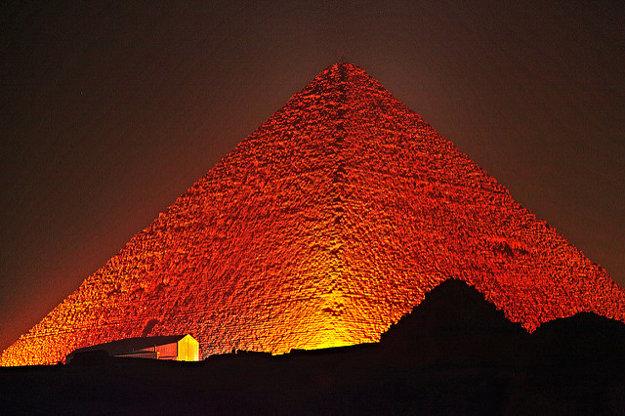 Veľká pyramída v Gize.