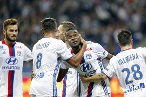 Hráči Lyonu (na fotke) nestačili na futbalistov Lorientu.