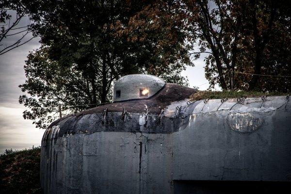 Bunker ťažkého opevnenia BS-4 Lány v súčasnej podobe po renovácii členov občianskeho združenia Múzeum petržalského opevnenia.