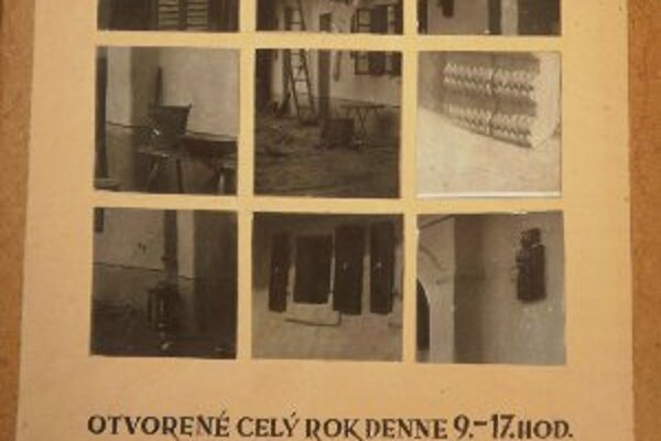 Už pred desiatkami rokov malo múzeum v bojnickom zámku pútač, na ktorom informovalo o otváracích hodinách pre návštevníkov.