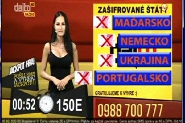 Otázka sa v súťaži objavila dvakrát, v oboch prípadoch vyhrala pani Ľudmila.