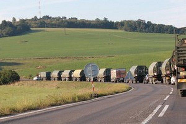 Slovenský konvoj sa vo štvrtok presunul do Lešti.
