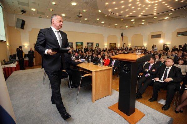 Andrej Kiska na hodnotiacej konferencii zahraničnej a európskej politiky.