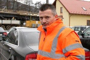 Minister dopravy Ján Počiatek na stavbe rýchlostnej cesty R2.