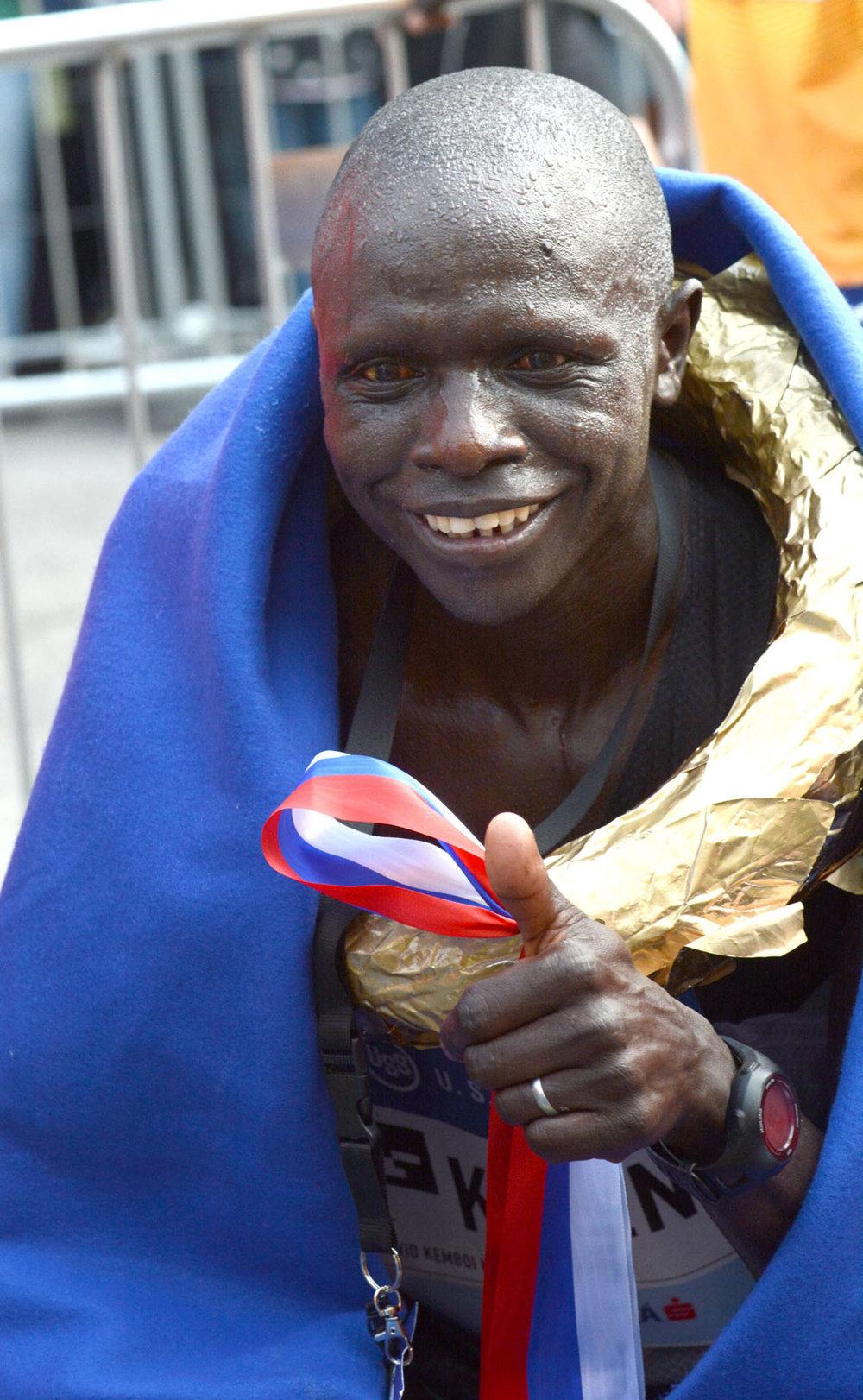 David Kiyeng, víťaz košického maratónu so zlatým vencom.