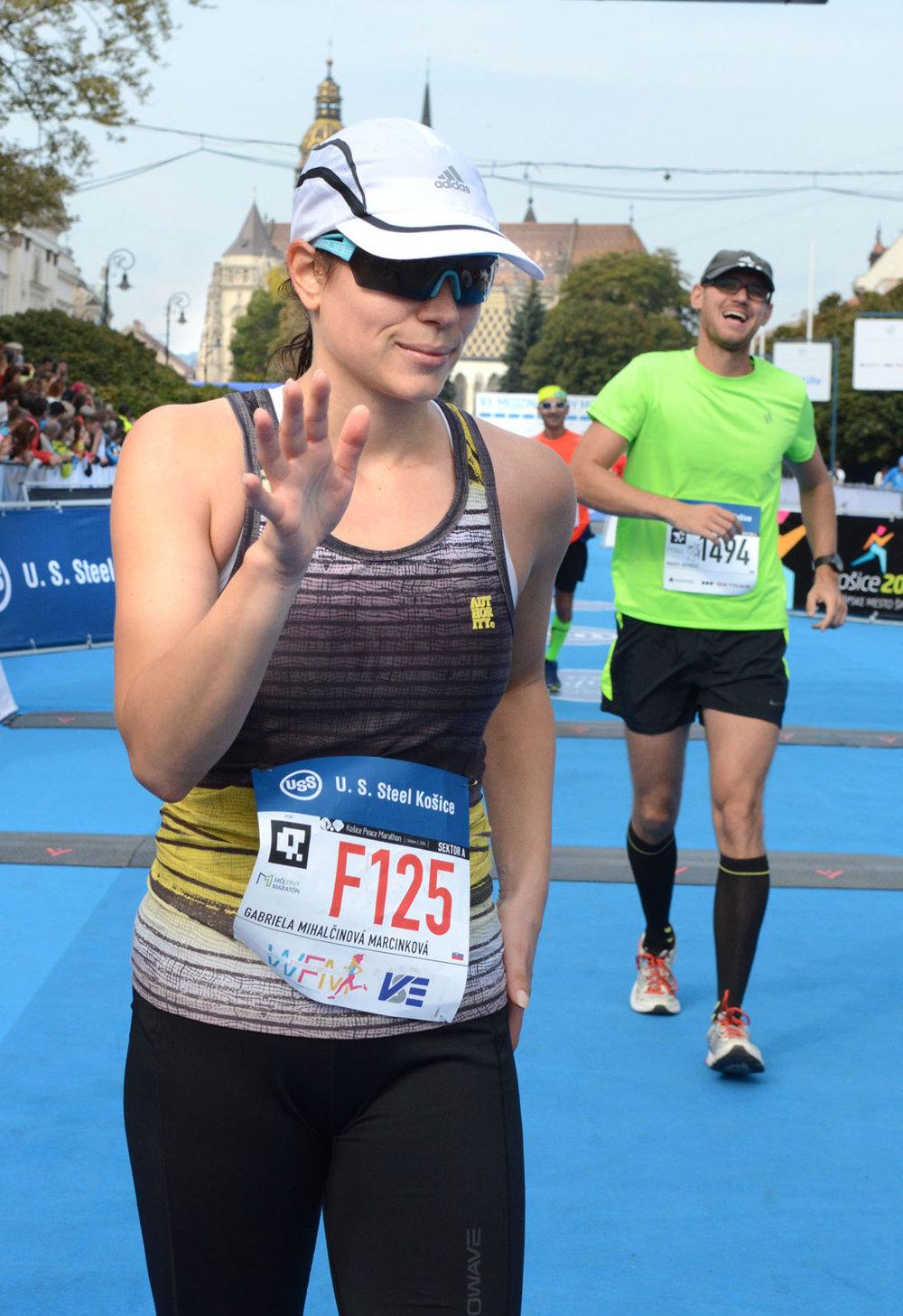 Herečka Gabriela Mihalčinová Marcinková behá rada, no tento rok jej maratón nesadol. Po dobehnutí do cieľa sa nám zverila, že si v Košiciach túto nedeľu vytrpela svoje.