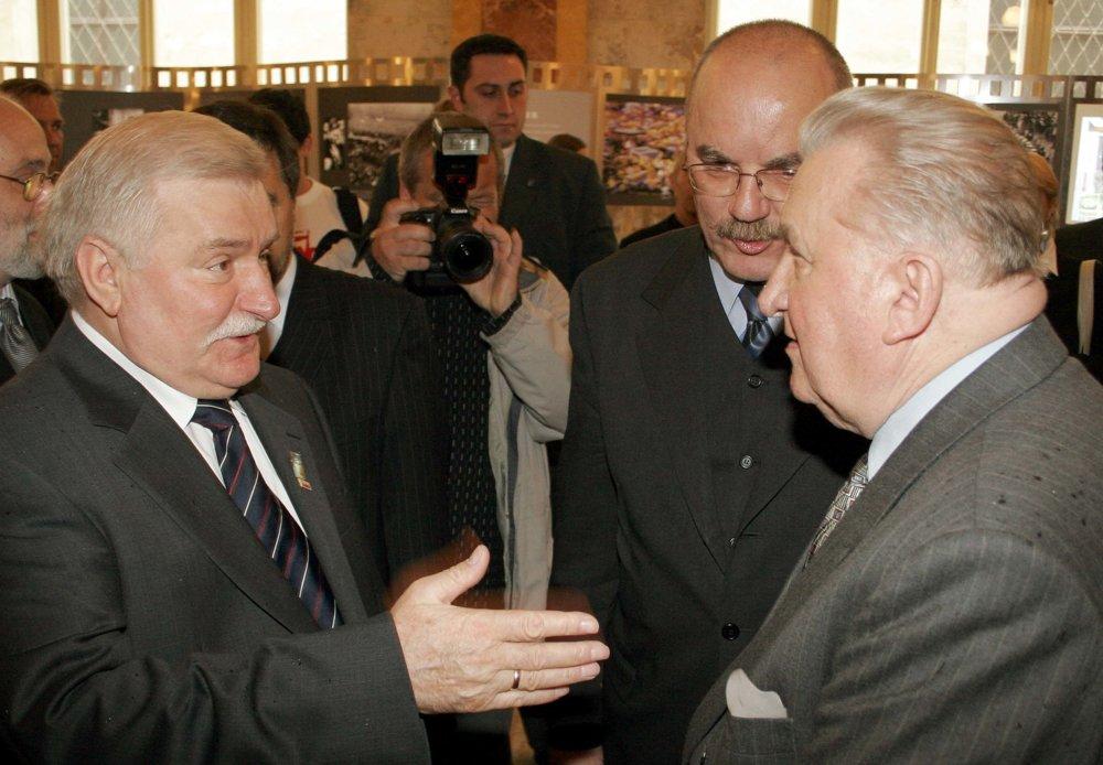 Na stretnutí s Lechom Wałęsom.