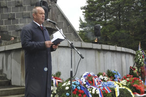 Na snímke minister obrany SR Peter Gajdoš počas príhovoru.