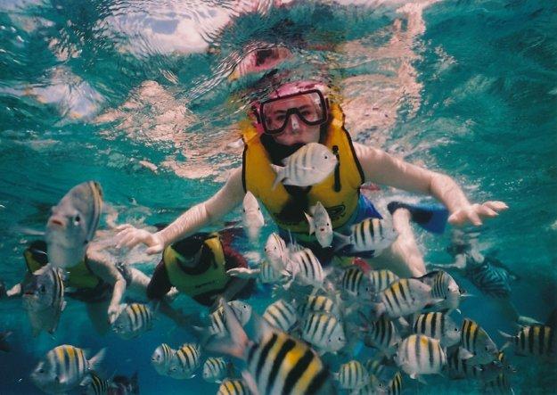 Makadi bay je tichá oblasť s výbornými podmienkami na šnorchľovanie.
