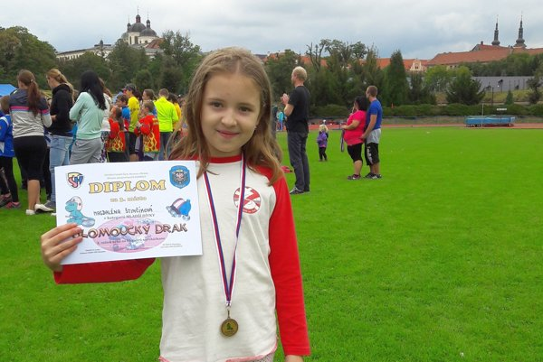 Magdalénka Štinčíková. S bronzom vnovom osobnom rekorde.
