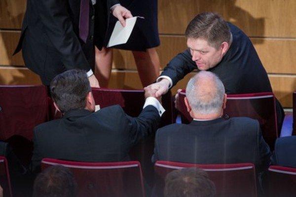 Robert Fico na inaugurácii Andreja Kisku.