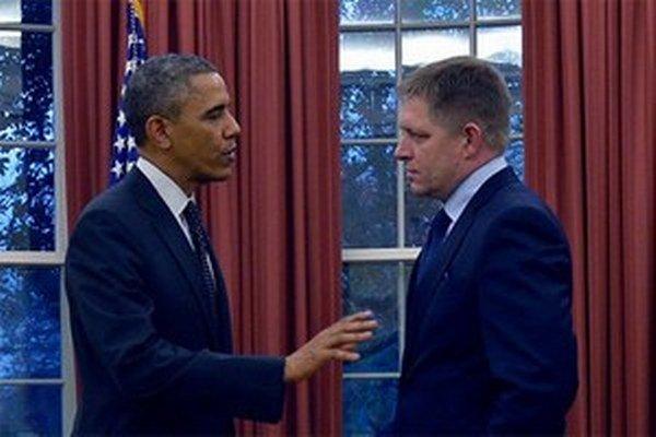Fico počas novembrovej návštevy v Bielom dome.