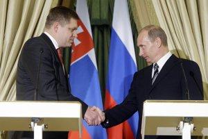 Robert Fico s ruským prezidentom Vladimírom Putinom.