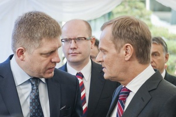 Fico, Sobotka, Tusk a Orbán.