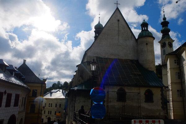 Kostol sv. Kataríny v centre Banskej Štiavnice.