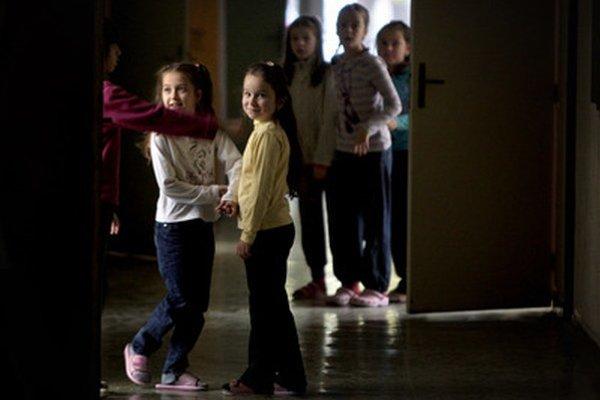 Deti na základnej škole v Dunajskej Strede.