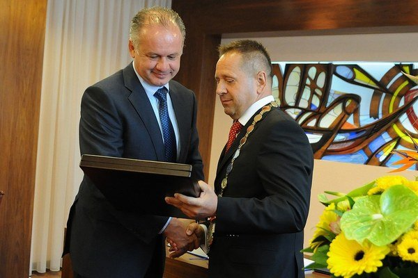 Primátor Popradu Anton Danko prijal novozvoleného prezidenta.