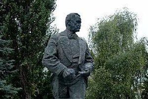 Socha Franza Lehára v Komárne