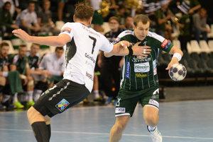 Päť gólov Tomáša Čípa (v zelenom) Tatranu na výhru nestačilo.