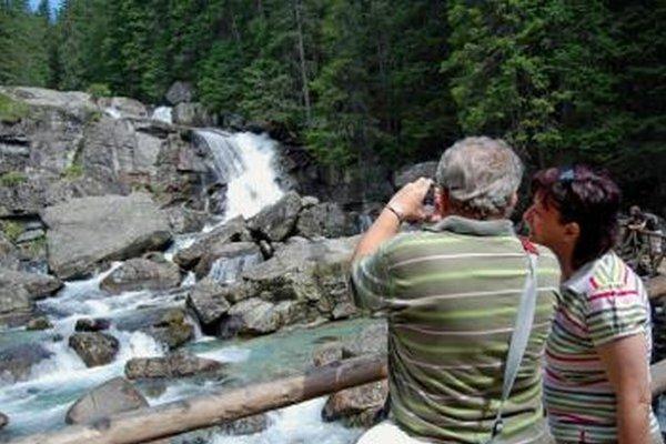 Veľké vodopády v Malej studenej doline.